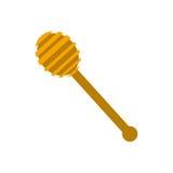 Honey Dipper di legno illustrazione di stock