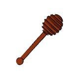 Honey Dipper di legno royalty illustrazione gratis