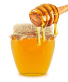 Honey and dipper Royalty Free Stock Photography