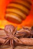 Honey dipper, star anise Royalty Free Stock Image