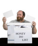 Honey Do List. Which chore do you think he'll pick Royalty Free Stock Images