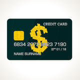 Honey dollar card. For business. vector format Stock Photography
