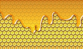 Honey dripping Royalty Free Stock Photos