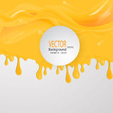 Honey drips seamless patterns and blots vector illustration