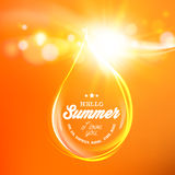 Honey drop over orange space. Royalty Free Stock Photography