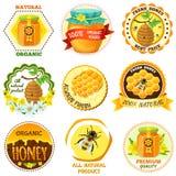 Honey Emblem Set Royalty Free Stock Images