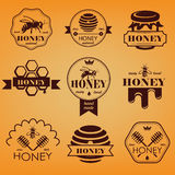 Honey emblems and labels Stock Images