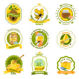 Honey Emblems Set Stock Image