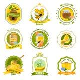 Honey Emblems Set stock illustration