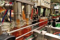 Honey Factory - cadena de producción Foto de archivo libre de regalías