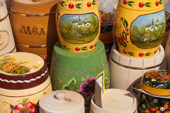 Honey Fair dans Uglich, Russie Photos libres de droits