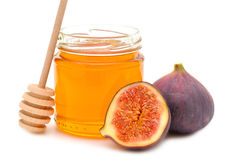 Honey and figs Stock Photography