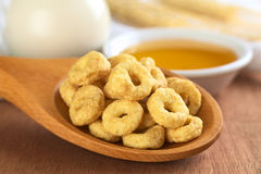 Honey Flavored Cereal Loops Royalty Free Stock Image