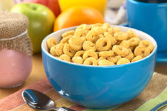 Honey Flavored Cereal Loops Stock Photography