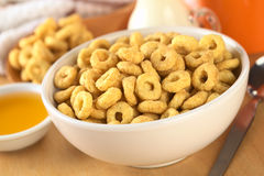 Honey Flavored Cereal Loops Royalty Free Stock Photography