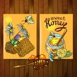 Honey flayers Royalty Free Stock Photos