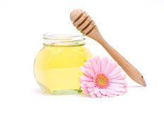 Honey and flower Royalty Free Stock Photos
