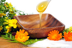 Honey Flower Spa Royalty Free Stock Photo