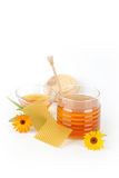 Honey and flowers Royalty Free Stock Images