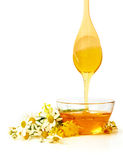 Honey with flowers Royalty Free Stock Photography