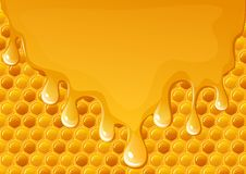 Honey flowing Stock Images