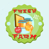 Honey Fresh Eco Farm Logo Stockbild