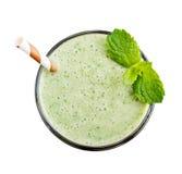 Glass of Avocado Smoothie Stock Photo