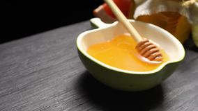 Honey and fruit stock video