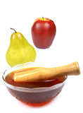 Honey and fruits Royalty Free Stock Photos
