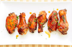 Honey garlic chicken wings Royalty Free Stock Photos