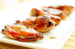 Honey garlic chicken wings Royalty Free Stock Images