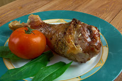 Honey garlic glazed  Turkey leg  baked Stock Photo