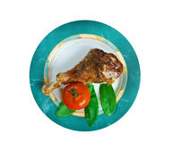 Honey garlic glazed  Turkey leg  baked Stock Photography