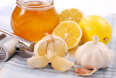 Honey,garlic and lemon Royalty Free Stock Image
