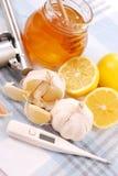 Honey,garlic and lemon Royalty Free Stock Photos