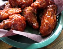 Honey Garlic Wings Foto de Stock Royalty Free