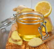 Honey and ginger Stock Photography