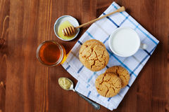 Honey ginger cookies on a rustic background Royalty Free Stock Photo