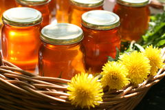 Honey in glass Royalty Free Stock Images