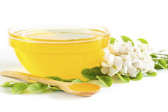 Honey in glass bowl Royalty Free Stock Images