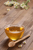 Honey in a glass bowl Stock Photography