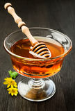Honey in a glass dish Stock Image