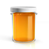Honey glass jar. On white background Royalty Free Stock Images