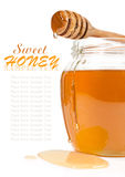 Honey in the glass jar Stock Image