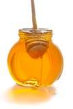Honey in glass pot Royalty Free Stock Photo