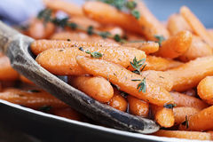 Honey Glazed Baby carrots Royalty Free Stock Photo