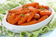 Honey Glazed Baby Carrots Royalty Free Stock Photography