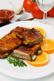 Honey glazed barbecued ribs Royalty Free Stock Photos