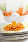 Honey glazed carrots Stock Photography