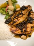 Honey Glazed Chicken Breast With Dried Fruit Royalty Free Stock Photography
